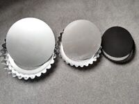 Quiche / cake tins with removable base X 3