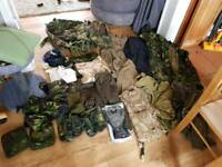 Huge lot of ex military kit