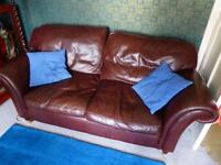 Laura Ashley 2 seater Mortimer leather sofa