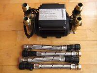 Stuart Turner Monsoon Standard 3 Bar Twin Positive Head Shower Whole House Pump 46416
