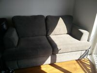 2 seater Sofa Bed, like new, anti-stain protective coating
