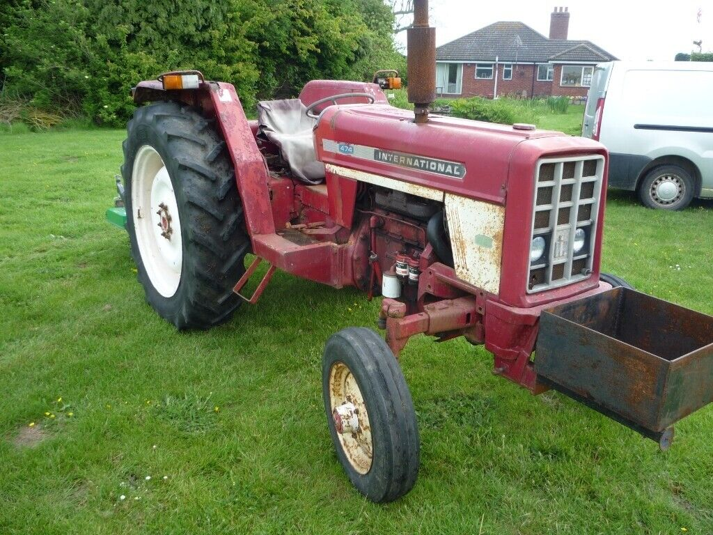 International 474 tractor and FM120 rotary finishing mower   in Louth,  Lincolnshire   Gumtree