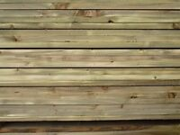 New Softwood Garden Sleepers | 2400 x 200 x 50 | Tanalised | Pine | Medicated