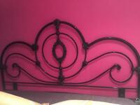 Black metal king size headboard