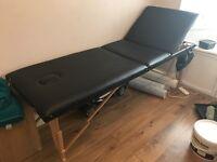 Black faux portable salon bed