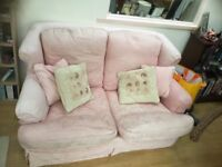 2 Seater Pink Fabric sofa for sale