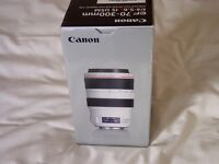 Canon 70-300mm f 4-5.6 L pro IS usm lens brand new boxed.
