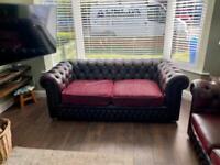 Chesterfield 3 seater sofa original 1960's