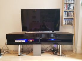 Stylish TV unit, can be mounted on wall, lights up