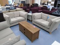 Brand New Mink 2+2 Seater Fabric Sofas Are Only £450. Retail At £1100. Can Deliver.