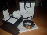GG Gold hardware Black Women's Belt