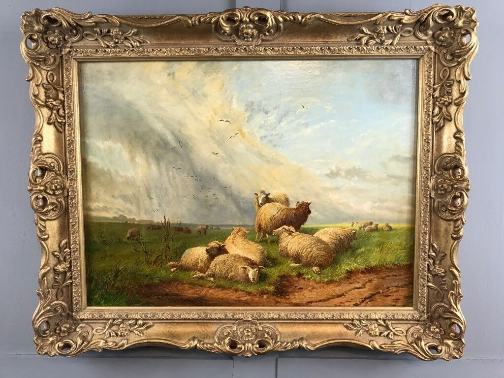 Thomas Sidney Cooper Oil Painting 1803 1902 Sheep May Safely