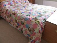 Vintage handmade patchwork quilt double size