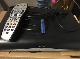 Sky +hd box with remote