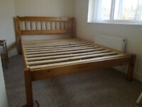 Wooden double bed frame (with or without mattress)