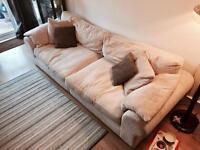Radley 4 Seater Cream Sofa Standard Back