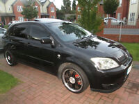 **04 COROLLA BLACK 53 ON PLATE 1.6 16V CLEAN INSIDE & OUT CAR DRIVE LIKE NEW MOT&TAX 1299 BARGAIN **