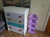 Chest of drawers with bureau
