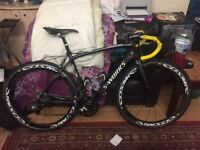 Specialized S-Works Roubaix with Mavic Cosmic carbon wheelset with PowerTap