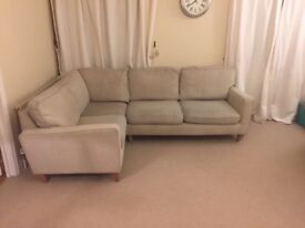 Modern four seater L shaped sofa