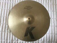 """Zildjian K 16"""" crash cymbal"""