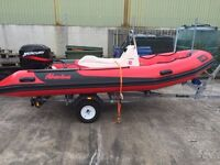 4.5m Rib with 50hp for sale