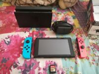 AS NEW NINTENDO SWITCH + ZELDA (Breath of the wild)-ORIGINAL UK CONSOLE ,MOST ACCESSORIES NEVR USED