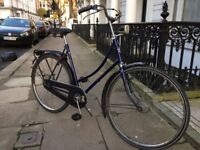 Authentic Lady's Dutch Bicycle in Royal Blue - Very pretty , runs well , comfortable ride ...