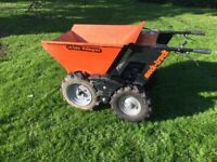 Motorised walk wheel barrow