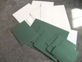Assorted mountboard in cream and green