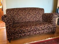Sofa with matching armchair