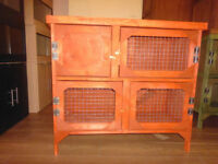 brand new 3ft 2 tier rabbit guinea pig hutch incedar red