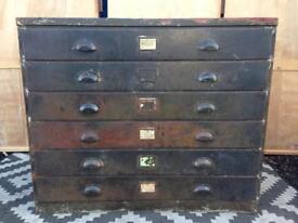 Plan chest / workshop drawers