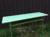 Retro Wooden Table School Desk, Statement Furniture Dining Side Display Desk