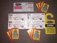 Carfest South Weekend Camping Tickets 2 x Adults 2 x Children