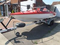 fletcher 18ft newly revamped and painted with trailer all renewed