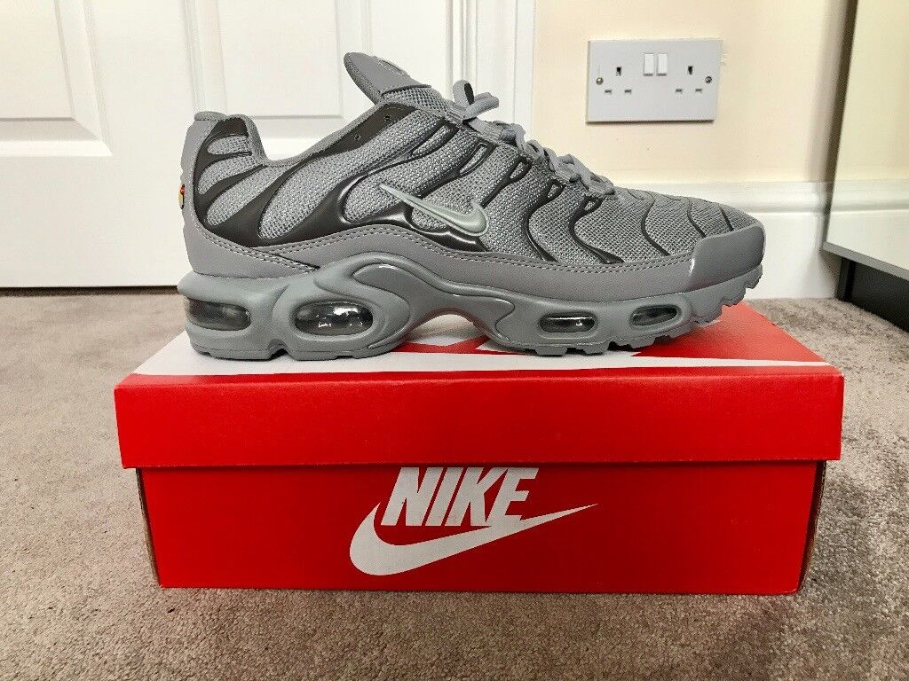 Tn Brand Air Max 10 Grey Trainers Plus Men's New Size Nike wqBwnY41