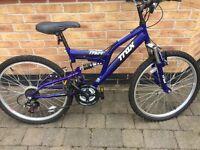 Boys bike14''frame trax with gears