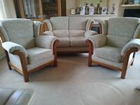 3 piece suite (2 seater settee and 2 armchairs) very comfortable excellent quality