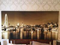 London Skyline Sepia Quality Canvas