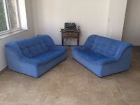 Amazingly comfortable pair of two seater sofas