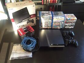 PS3 Slim 160GB | 2 controllers | Lots of Games and Bluerays