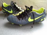 Grey and yellow NIKE football boots size 7
