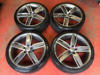 19'' GENUINE AUDI A3 S3 S LINE BLACK EDITION ALLOY WHEELS TYRES 5X112 SPORT BACK