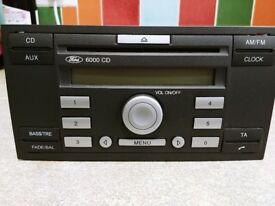Ford Focus mk2 radio 6000 cd with code