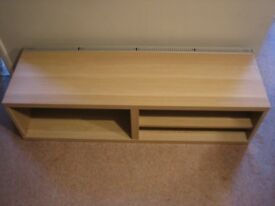 Two light-oak TV/media benches, from Ikea's Besta range. Available separately or together