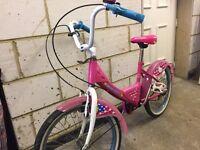 "Girls 19"" hello kitty bicycle"