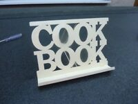 Metal cook book stand.