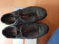 Prada black men's leather shoes sz 10