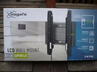 """Vogel's LCD wall mount bracket for size 19"""" to 26"""". Superflat. Autolock. Excellent condition in box."""